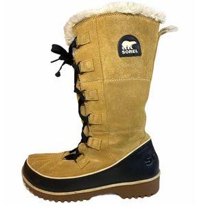 SOREL WOMEN'S TIVOLI HIGH II CURRY Boots Size 8.5